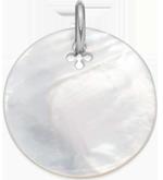 Médaille en nacre de 2,7 cm, argent