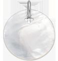 Médaille en nacre de 2 cm, argent