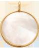 Médaille en nacre de 1,5 cm avec bordure d'or