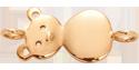 Nounours plaqué or au poignet 2,5 cm