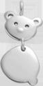 Pendentif Nounours en argent 1,7 cm