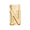 Lettre N plaqué or