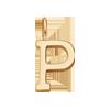 Lettre P plaqué or