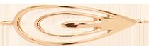 élément Paon de 4,5 cm plaqué or