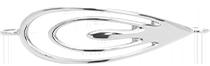 élément Paon de 4,5 cm en argent