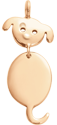 Pendentif Chienchien plaqué or 2,2 cm