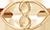 cœurs joints avec le signe de l'infini 1 cm plaqué or
