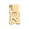 Lettre R plaqué or