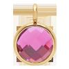 Pendentif avec quartz rose, plaqué or, 1 cm