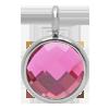 Pendentif avec quartz rose, plaqué argent, 1 cm