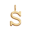 Lettre S plaqué or