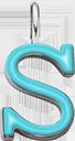 Pendentif Sens 1 cm, S, émail turquoise, plaqué argent