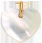 Cœur en nacre de 1,5 cm, PO