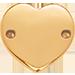 un cœur plat plaqué or