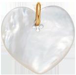 Cœur en nacre de 2,7 cm, PO