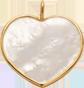 Cœur en nacre de 1,5 cm avec bordure d'or
