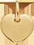 Cœur 1 cm Plaqué Or