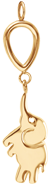 Pendentif Eléphant, plaqué or