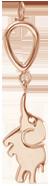 Pendentif Eléphant, rose plaqué or
