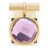 Pendentif avec quartz violet, plaqué or, 1 cm