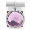 Pendentif avec quartz violet, plaqué argent, 1 cm