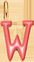 Pendentif Sens 1 cm, W, émail corail, plaqué or