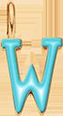 Pendentif Sens 1 cm, W, émail turquoise, plaqué or