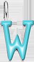 Pendentif Sens 1 cm, W, émail turquoise, plaqué argent
