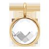 Pendentif avec quartz blanc, plaqué or, 1 cm