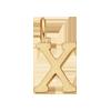 Lettre X plaqué or