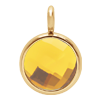 Pendentif avec quartz jaune, plaqué or, 1 cm