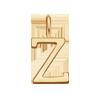 Lettre Z plaqué or