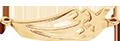pendentif constellation plaqué or