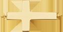 Croix 3 cm, plaqué or