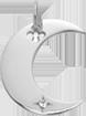 Pendentif Lune en argent de 2 cm